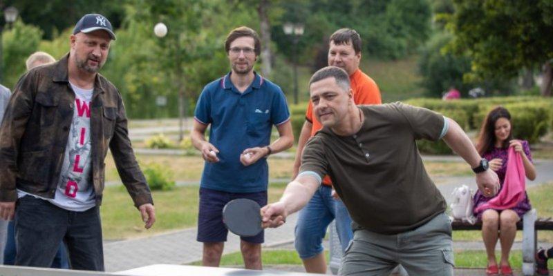 В Пскове установили площадку для настольного тенниса