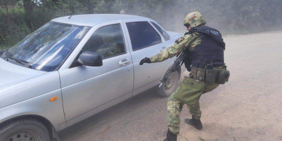 Росгвардейцы провели тренировку по отработке задержания условных террористов