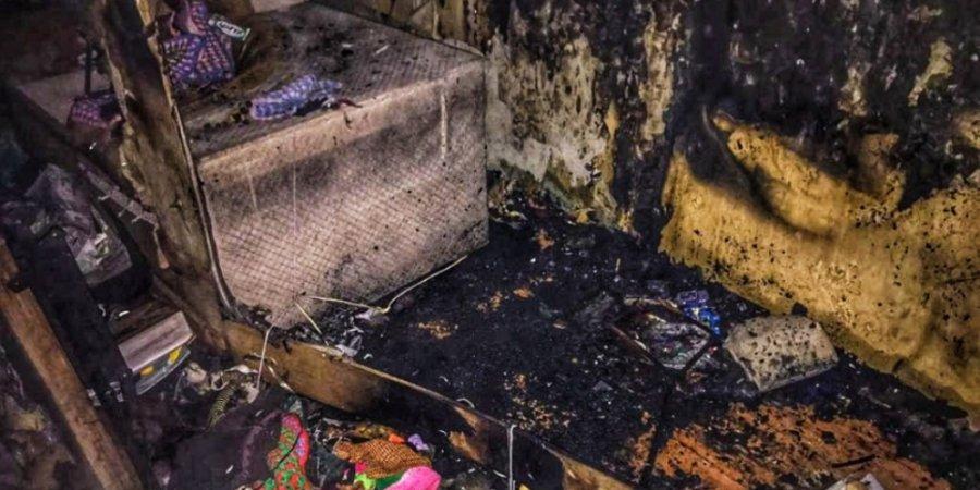 Детская шалость с огнем привела к пожару в Пскове