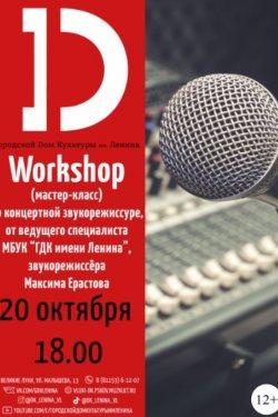 Workshop (мастер-класс) по концертной звукорежиссуре (12+)